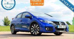 2016 Honda Civic 1.4 i-VTEC SE Plus (Navi) (s/s) 5dr £9795