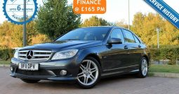 2011  Mercedes-Benz C Class 1.8 C180 BlueEFFICIENCY Sport 4dr  £8295